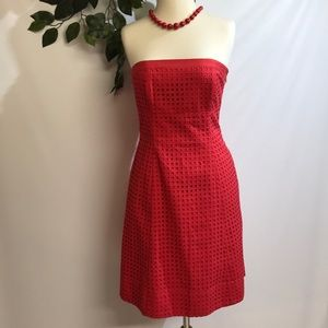 Red eyelet dress. NEW.